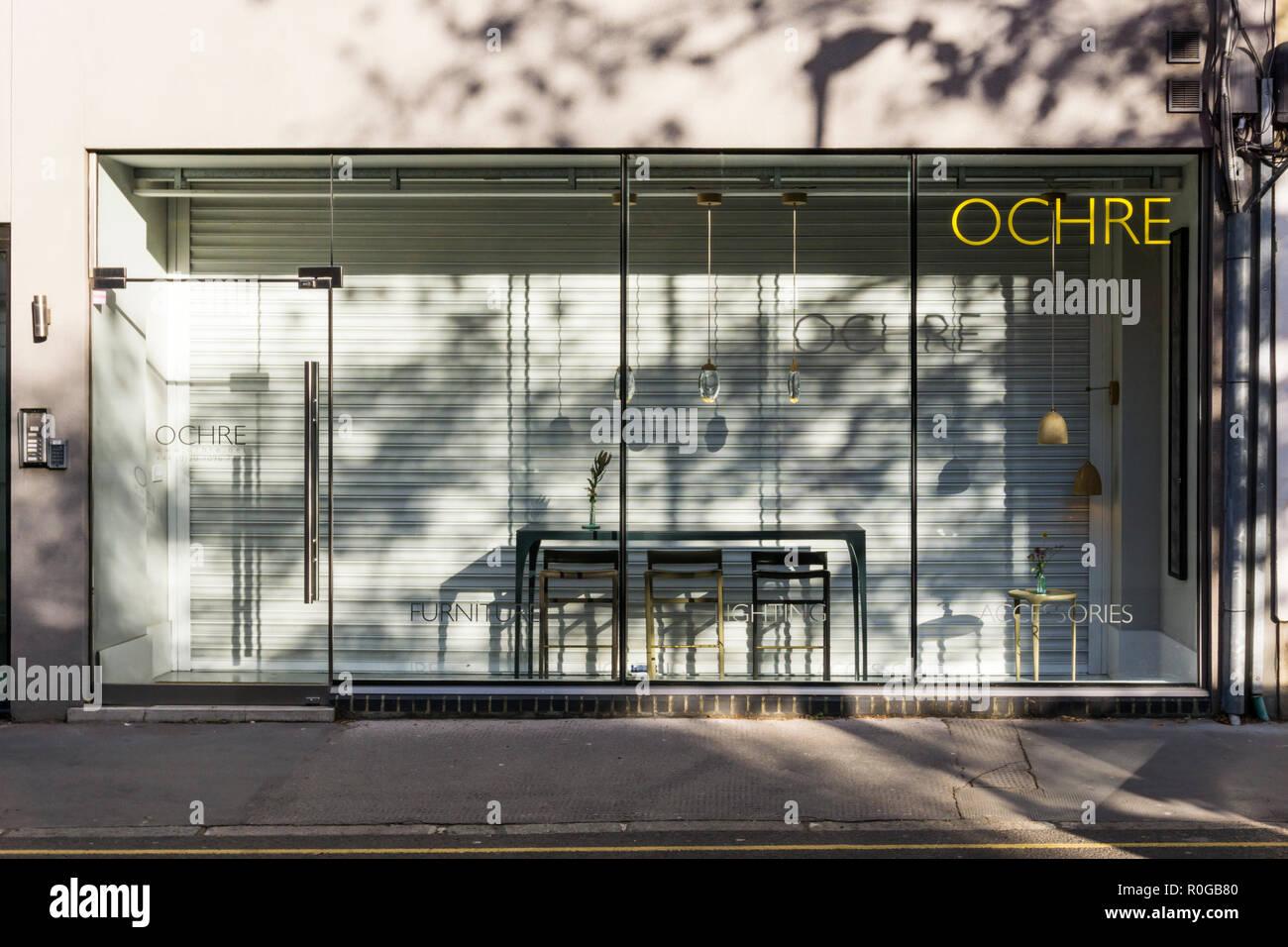 Ocra arredamento contemporaneo, lighting & Accessories shop in Clerkenwell, Londra. Immagini Stock