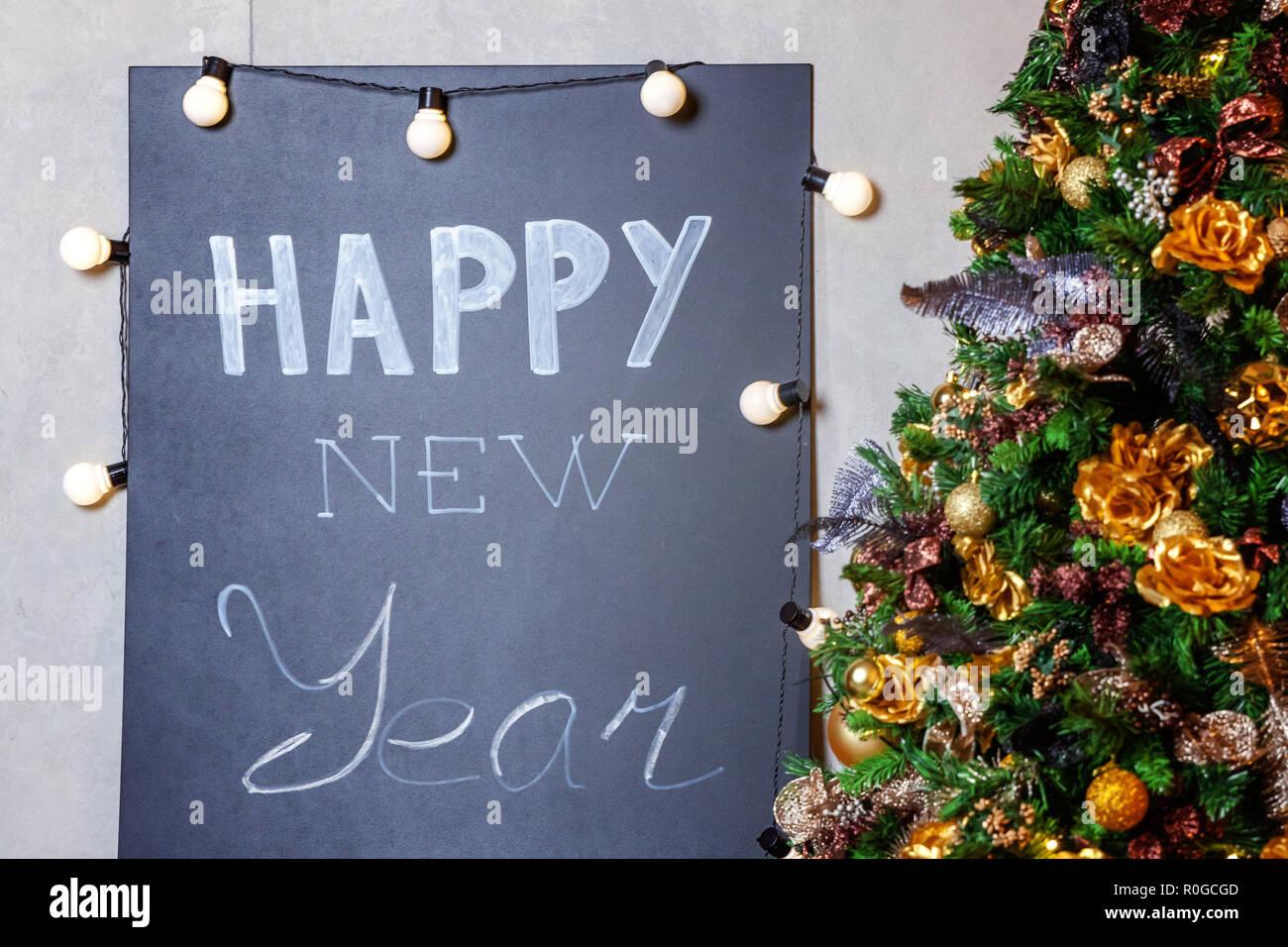 Decorazioni Sala Natale : Natale classico decorata sala interna con il nuovo anno albero