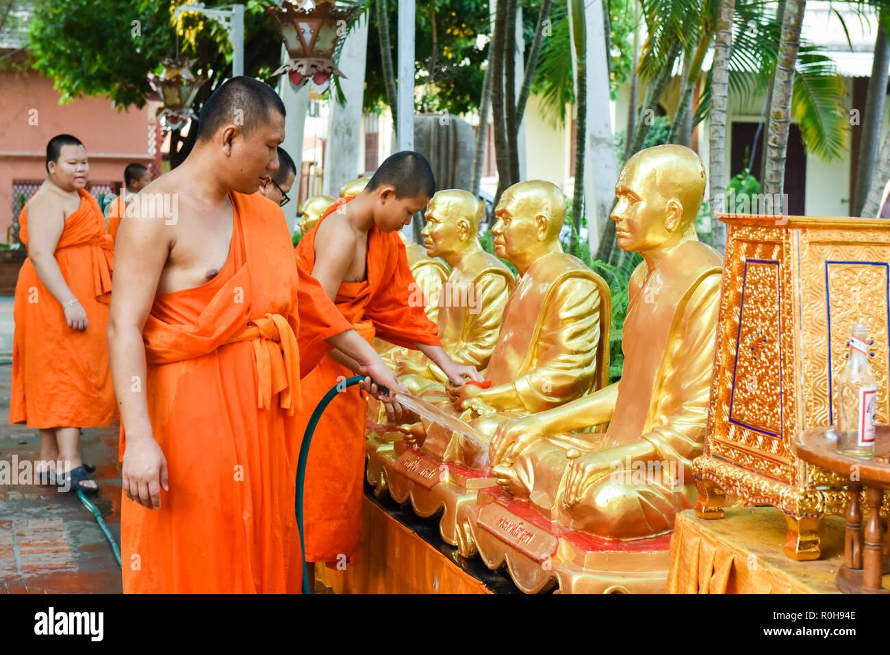 I monaci , Chiang Mai , della Thailandia Immagini Stock