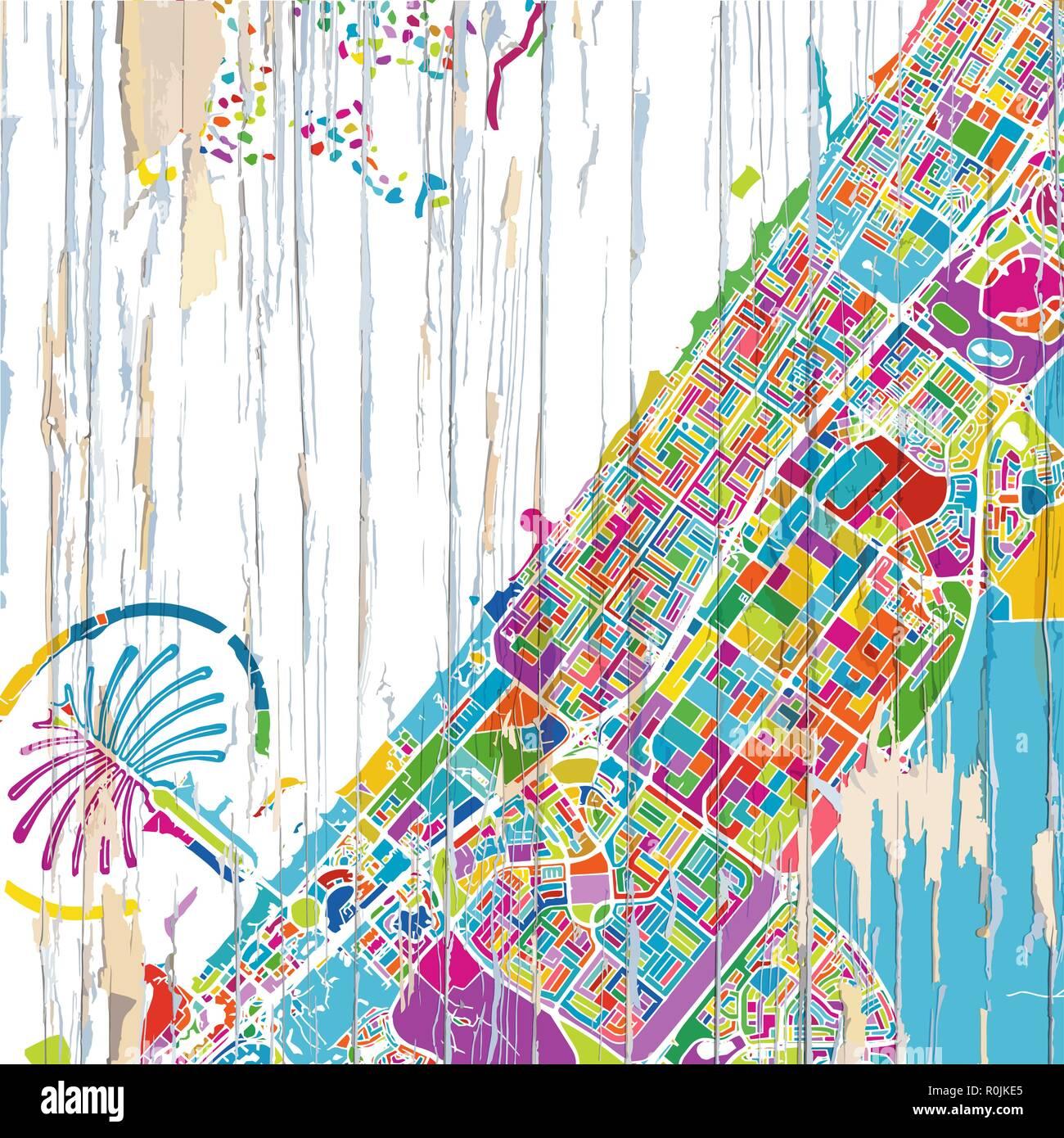 Cartina Mappa Turistica Dubai.Dubai Map Immagini E Fotos Stock Alamy