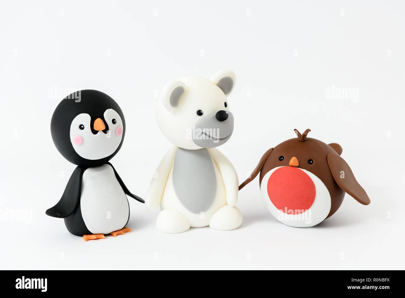 Zucchero carino penguin robin e orso polare i personaggi dei