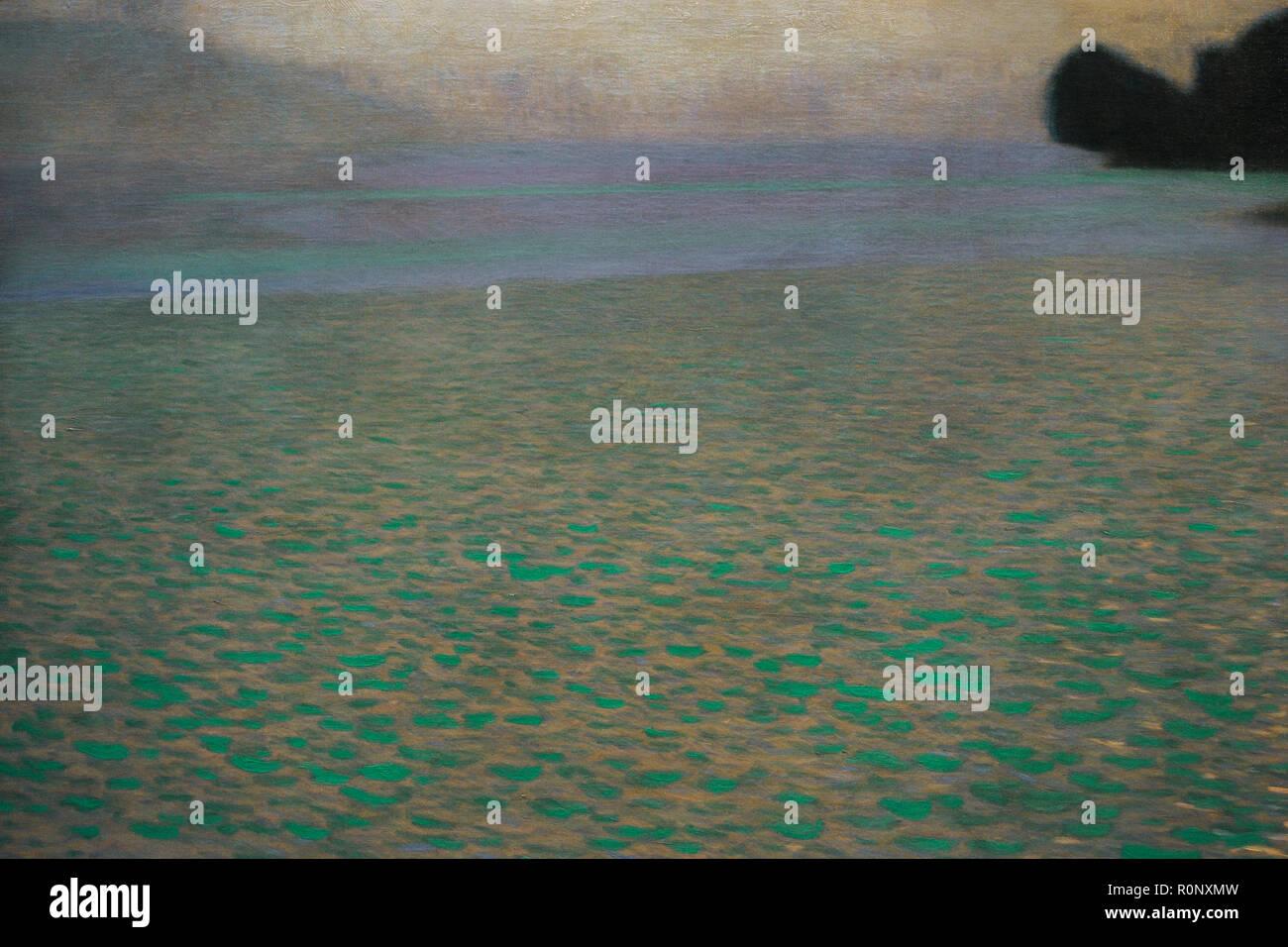 Gustav Klimt (1862-1918). Austriaco pittore simbolista. Attersee (lago Attersee), 1900. Dettaglio. Olio su tela. 80,2 x 80, 2 cm. Museo Leopold. Vienna, Austria. Immagini Stock