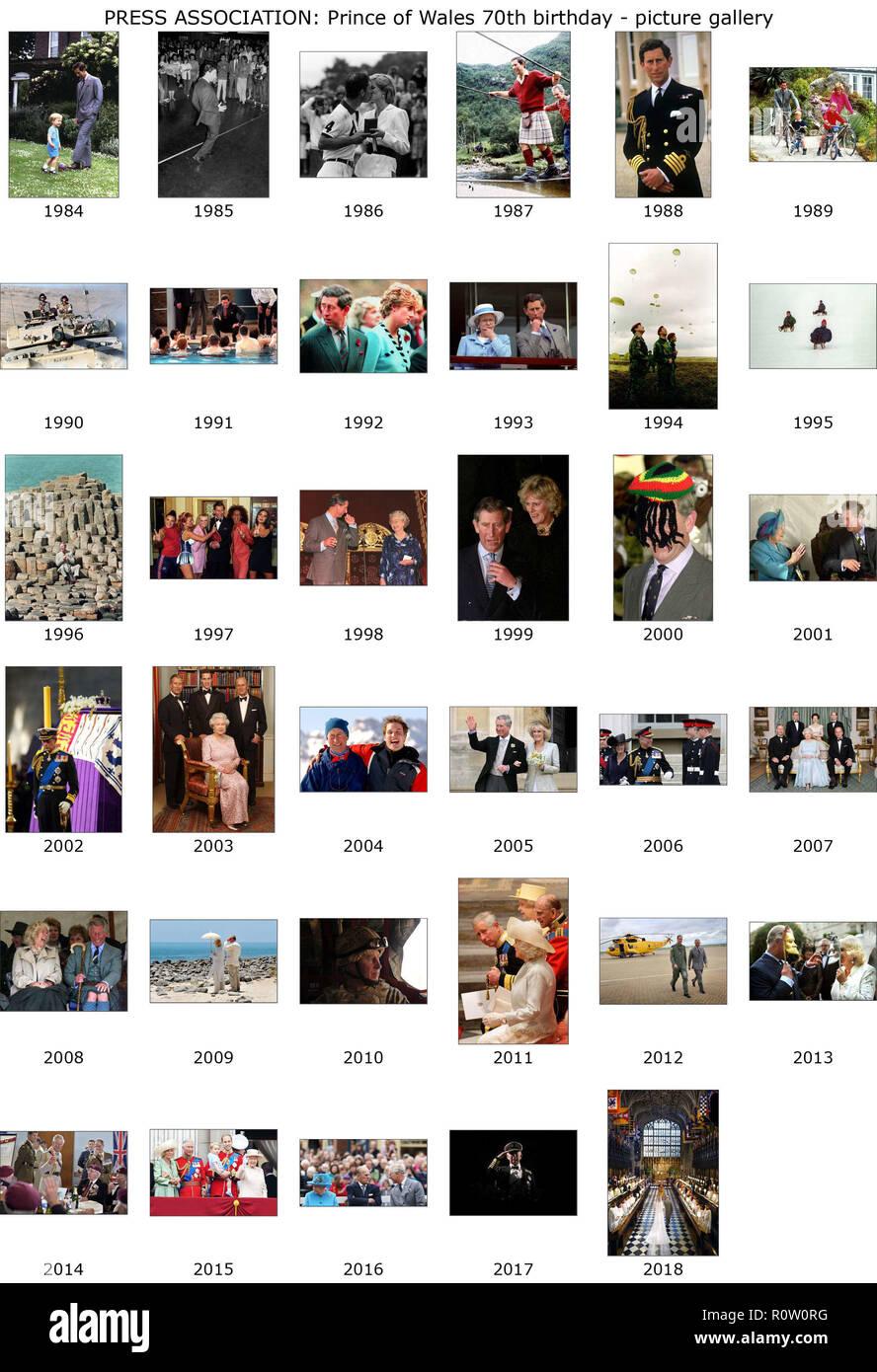 Calendario Anno 1992.In Questa Galleria Di Foto Celebra Il Principe Di Galles Il