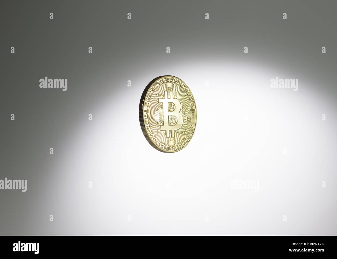 Bitcoin, digitale Waehrung Immagini Stock