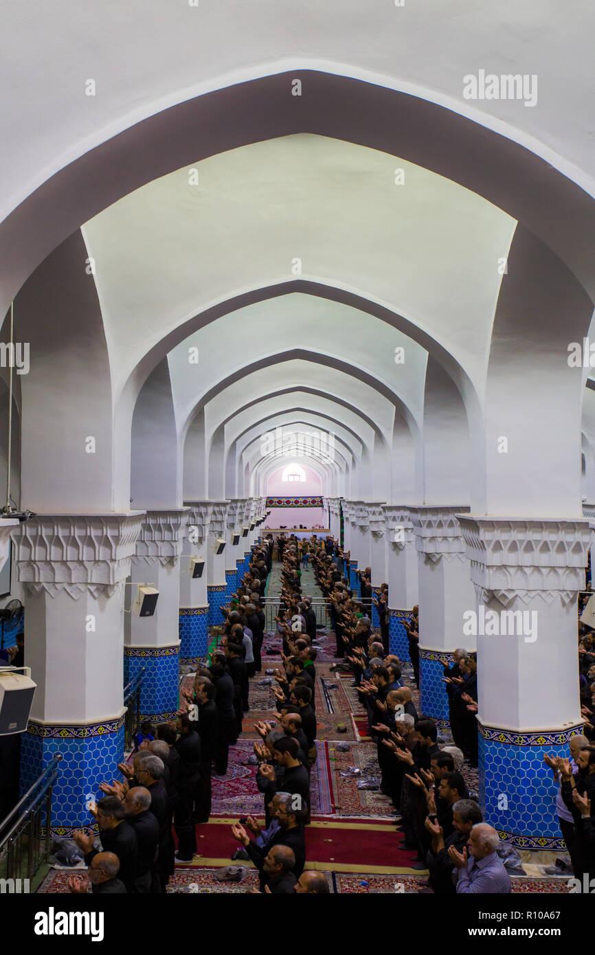 Molla Esmaeil moschea è una bella moschea a Yazd, Iran. / Architettura persiana / Architettura islamica / preghiera. Immagini Stock