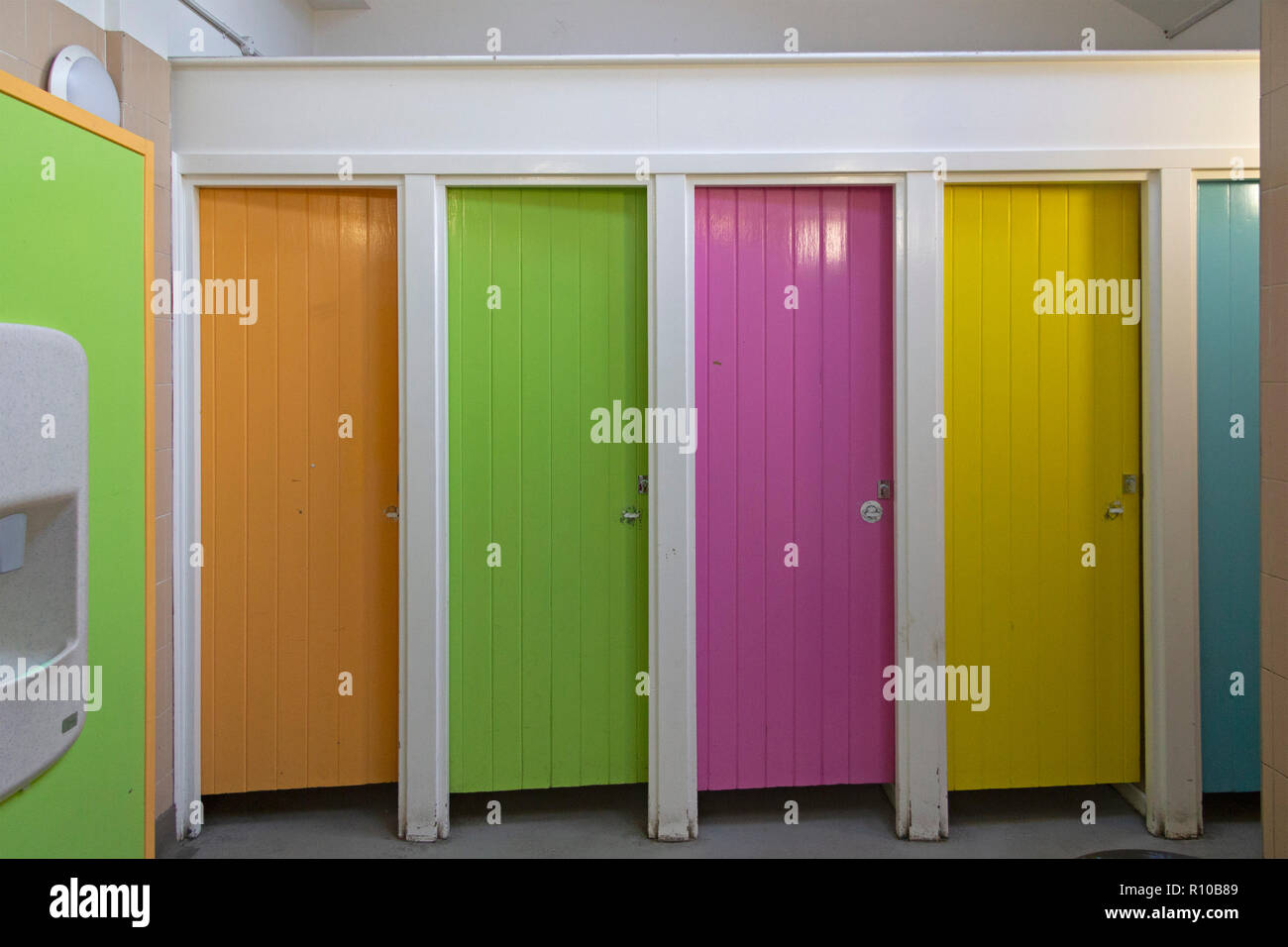 Damentoiletten, St. Ives, Cornwall, Inghilterra, Großbritannien | ladies' Bagni, St. Ives, Cornwall, Inghilterra, Gran Bretagna Immagini Stock