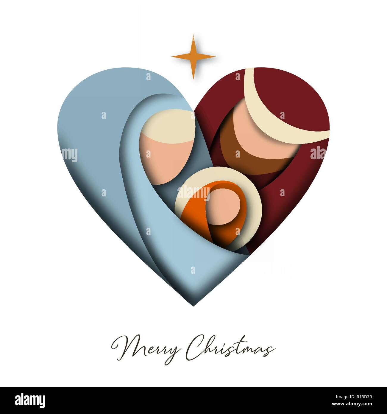 Buon Natale 3d Carta Tagliata Biglietto Di Auguri Con