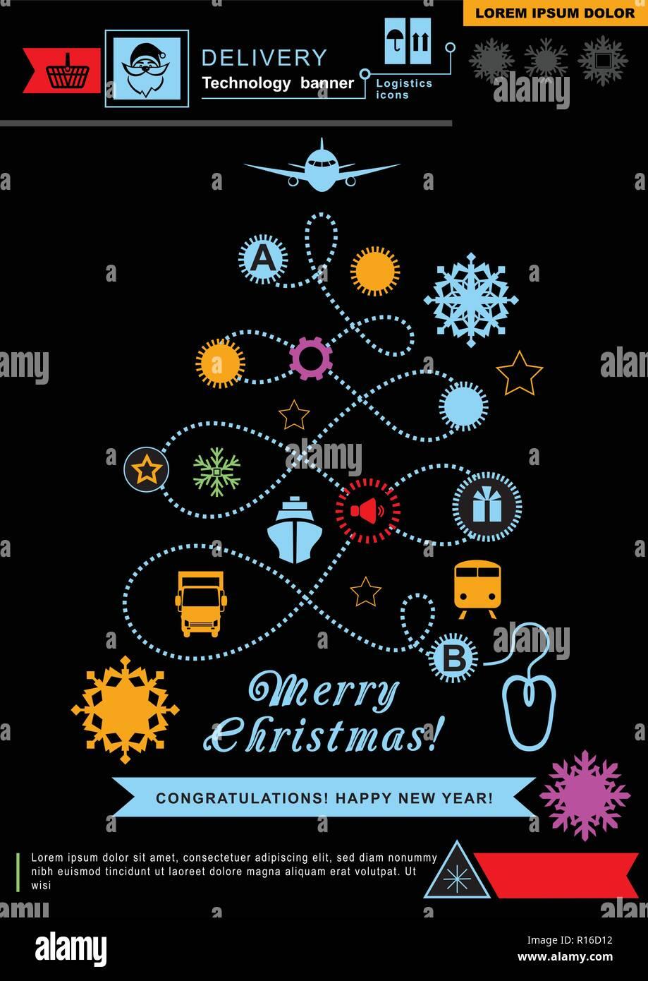 Percorso Babbo Natale.Il Percorso A Forma Di Albero Di Natale Al Neon Luminoso Logistica