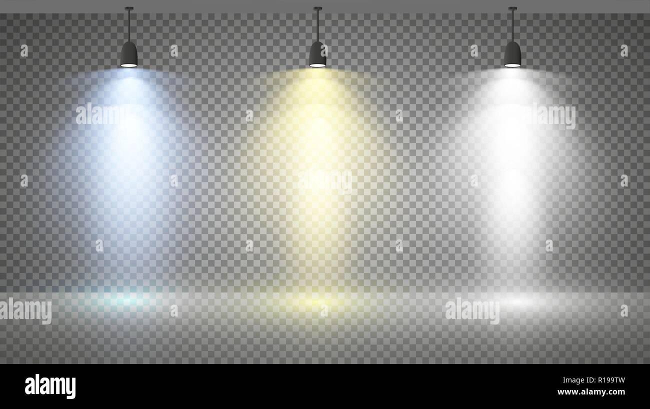 Illuminazione con proiettori biffiluce in luce con stile faretti