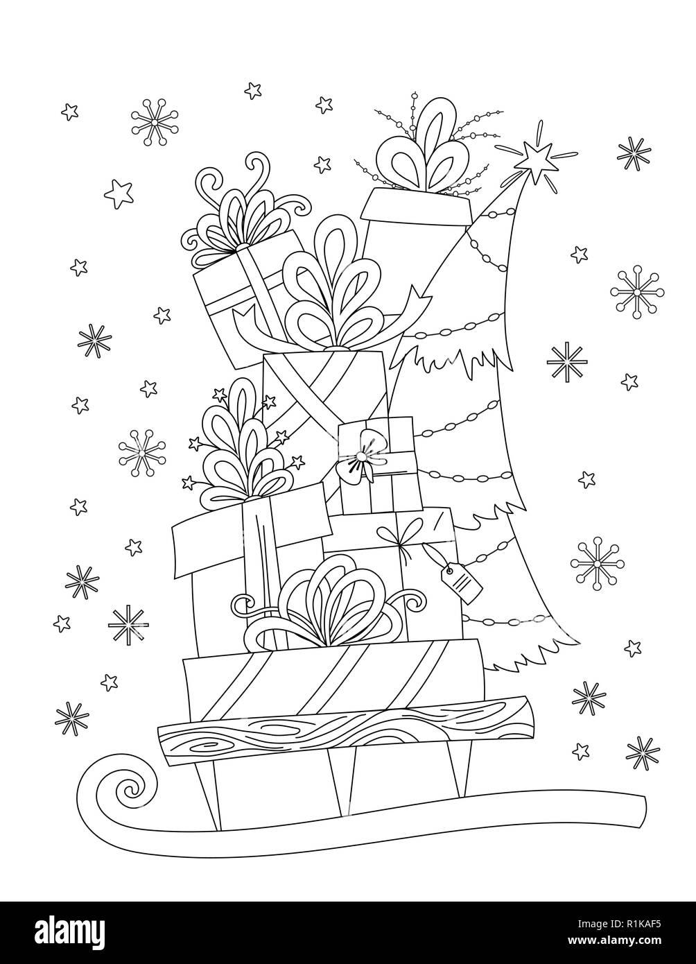Disegni Di Natale Da Colorare Per Adulti.Libro Da Colorare Per Adulti Immagini E Fotos Stock Alamy