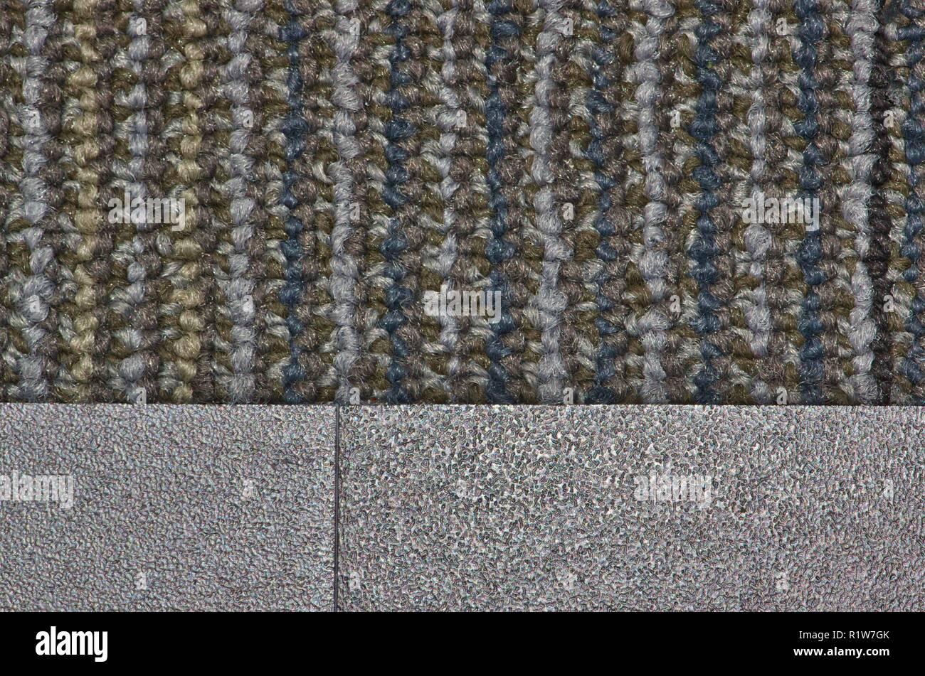 Campione di tappeto verticale con il modello di armatura