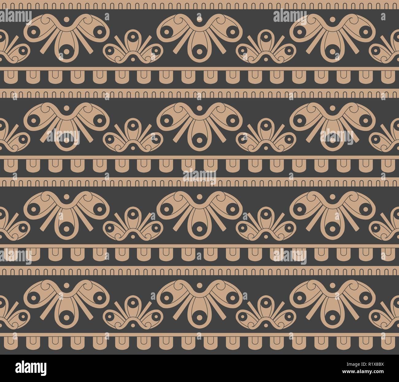 Vettore senza giunture di damasco pattern retrò curva di sfondo geometria  trasversale aboriginal linea del telaio bdde842a844