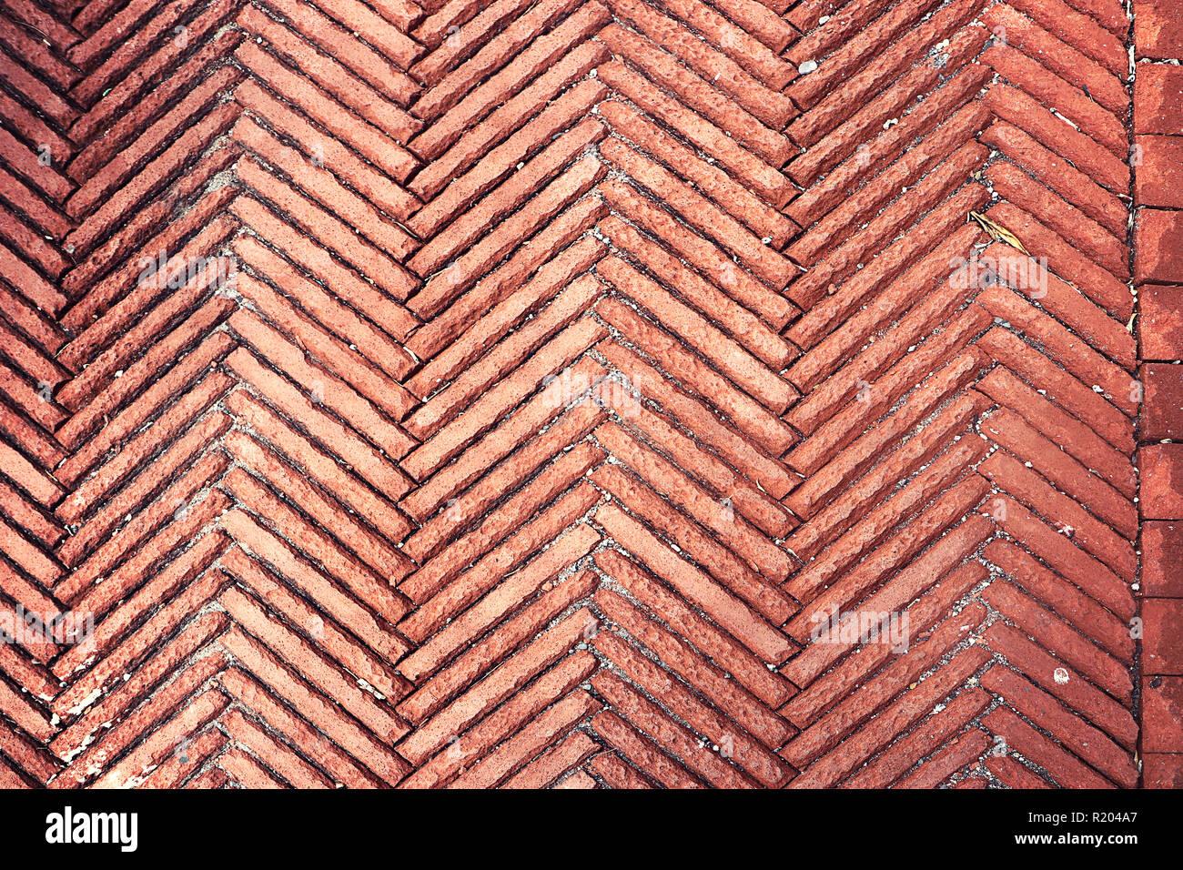Pavement texture aringa bone piastrelle di mattoni in cotto per
