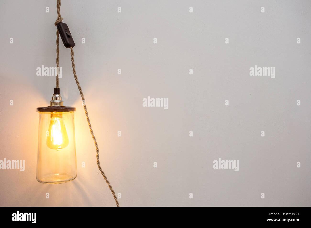 Bella retrò interni di lusso la lampadina di illuminazione arredo