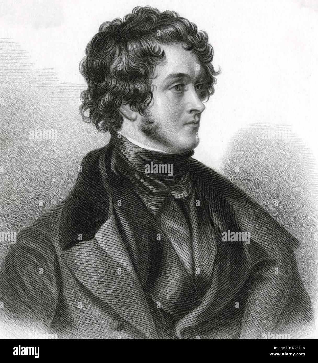 WILLIAM AINSWORTH (1805-1882) inglese romanziere storico Immagini Stock