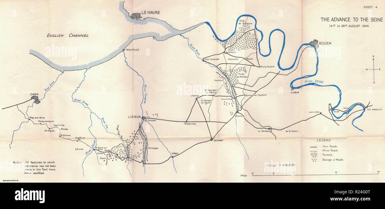 Guerra Mondiale 2 Campagna europea mappe 1945, passate a Siene Immagini Stock