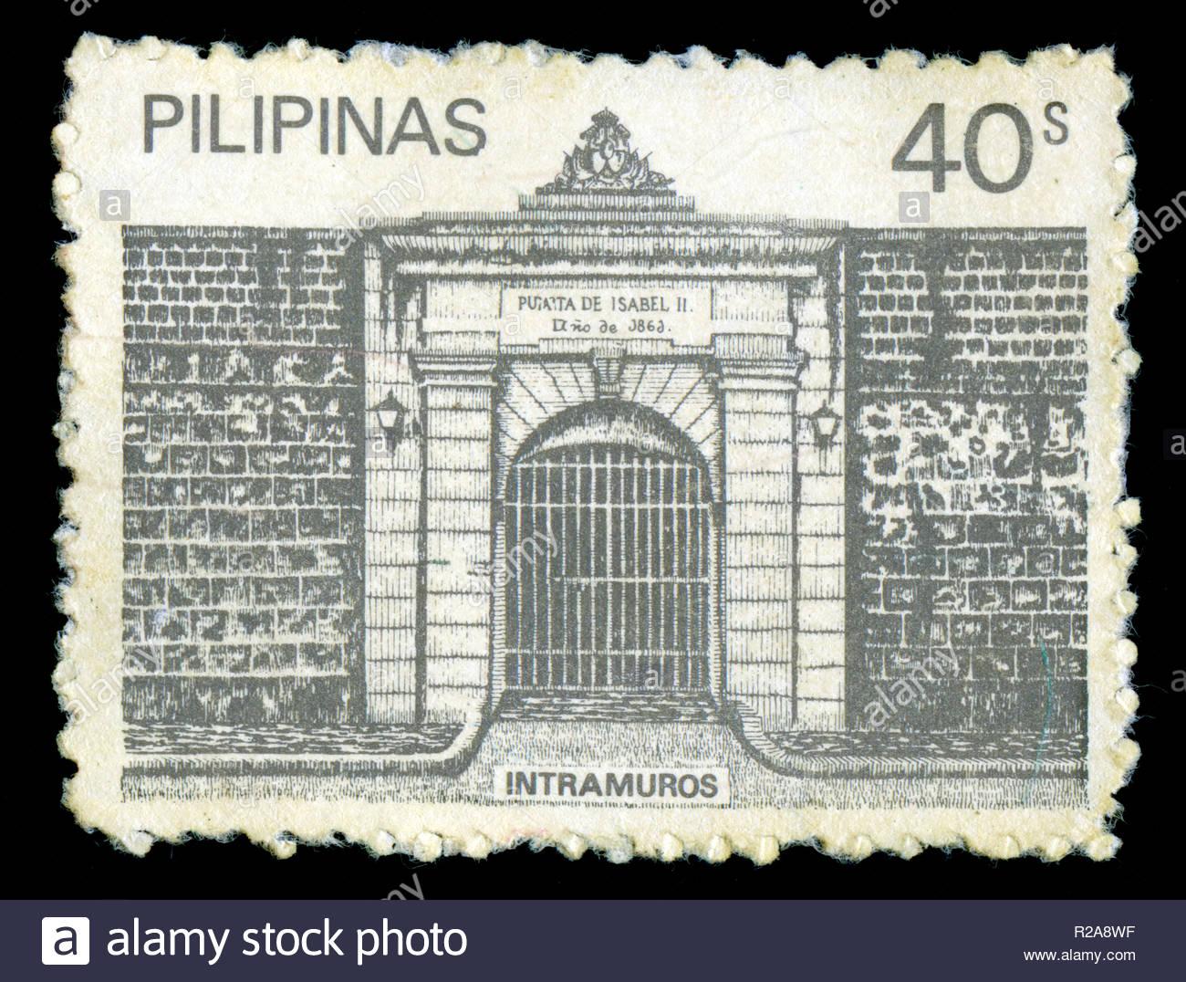 Francobollo dalle Filippine rilasciato in 1981 Immagini Stock