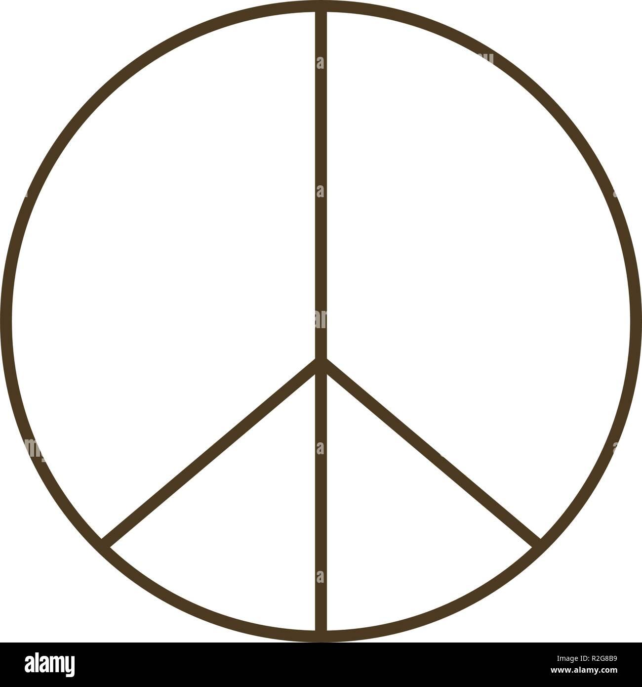 Simbolo di amore e di pace icona isolato Immagini Stock