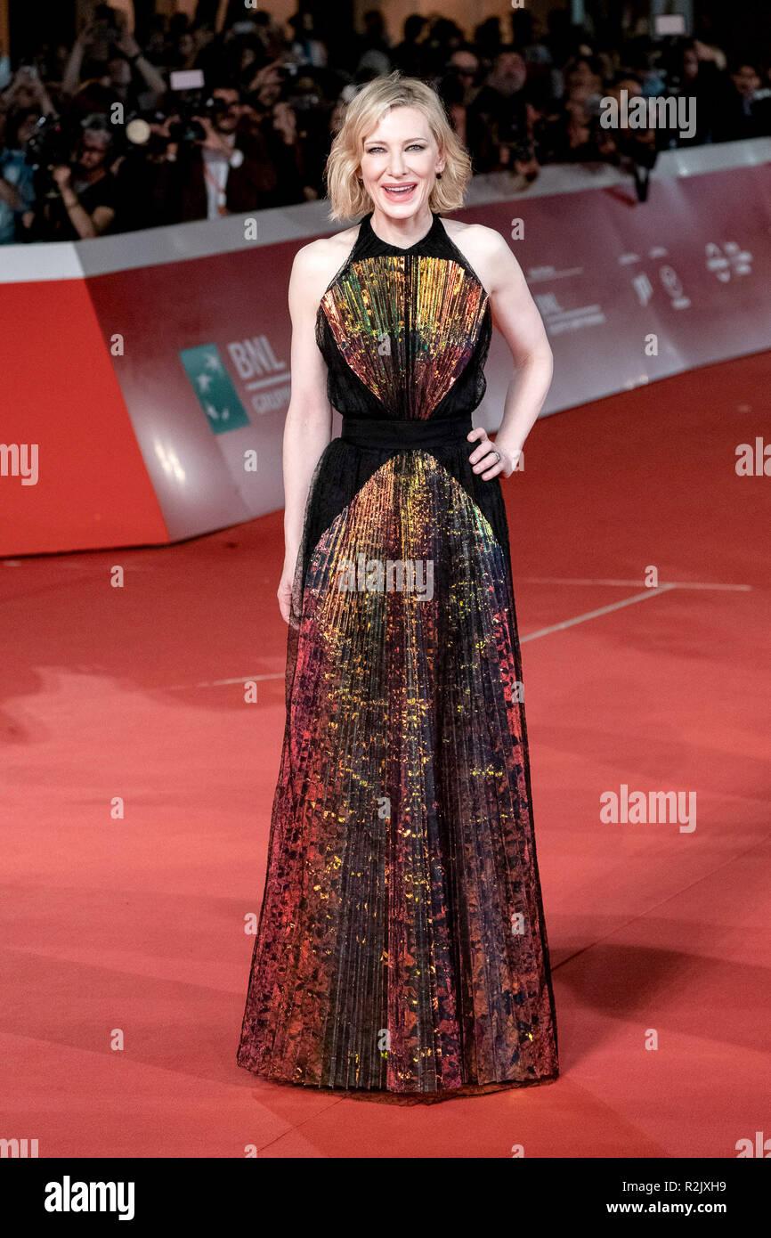 Xiii Roma Film Fest - La casa con un clock nelle sue mura - Premiere con: Cate Blanchett dove: Roma, Lazio, Italia Quando: 19 Oct 2018 Credit: WENN.com Foto Stock
