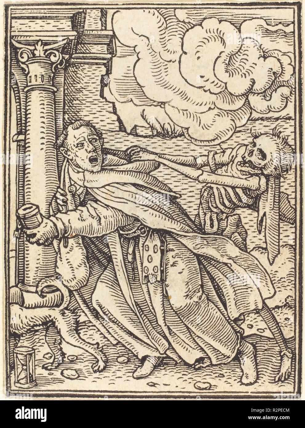 Frate cercatore. Medium: xilografia. Museo: National Gallery of Art di Washington DC. Autore: Hans Holbein il Giovane. Immagini Stock
