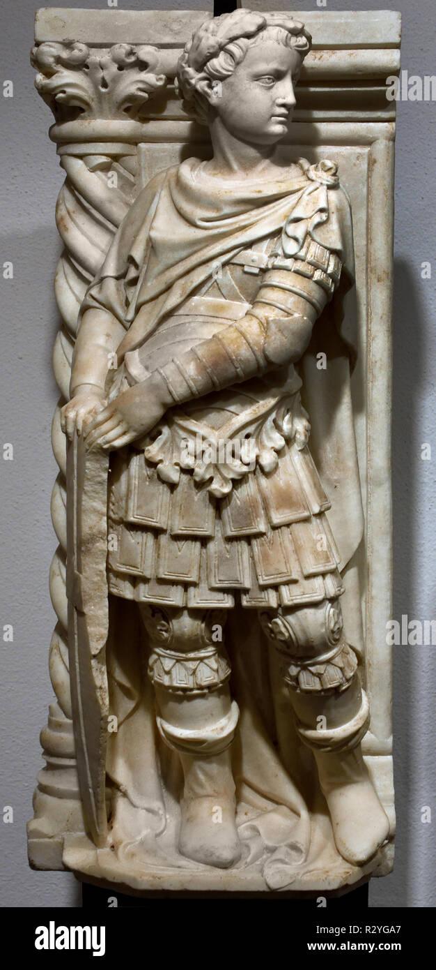 San Giorgio 1428 Filippo Solari en Andrea da Carona active 1434-1460 del xv secolo, l'Italia, ITALIANO, Immagini Stock