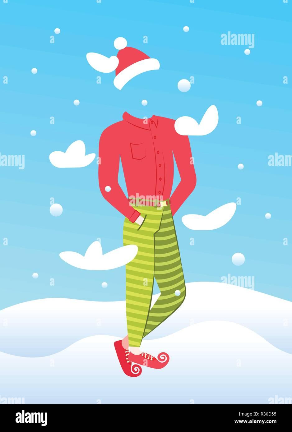 Uomo invisibile usura anno nuovo costume buon natale vacanze