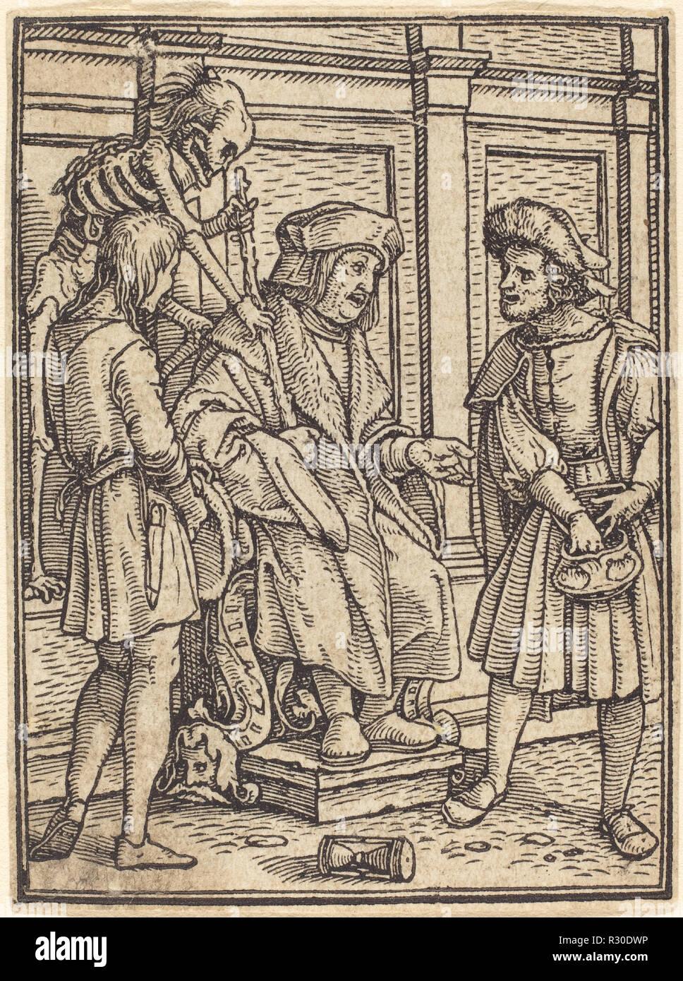 Giudice. Medium: xilografia. Museo: National Gallery of Art di Washington DC. Autore: Hans Holbein il Giovane. Immagini Stock