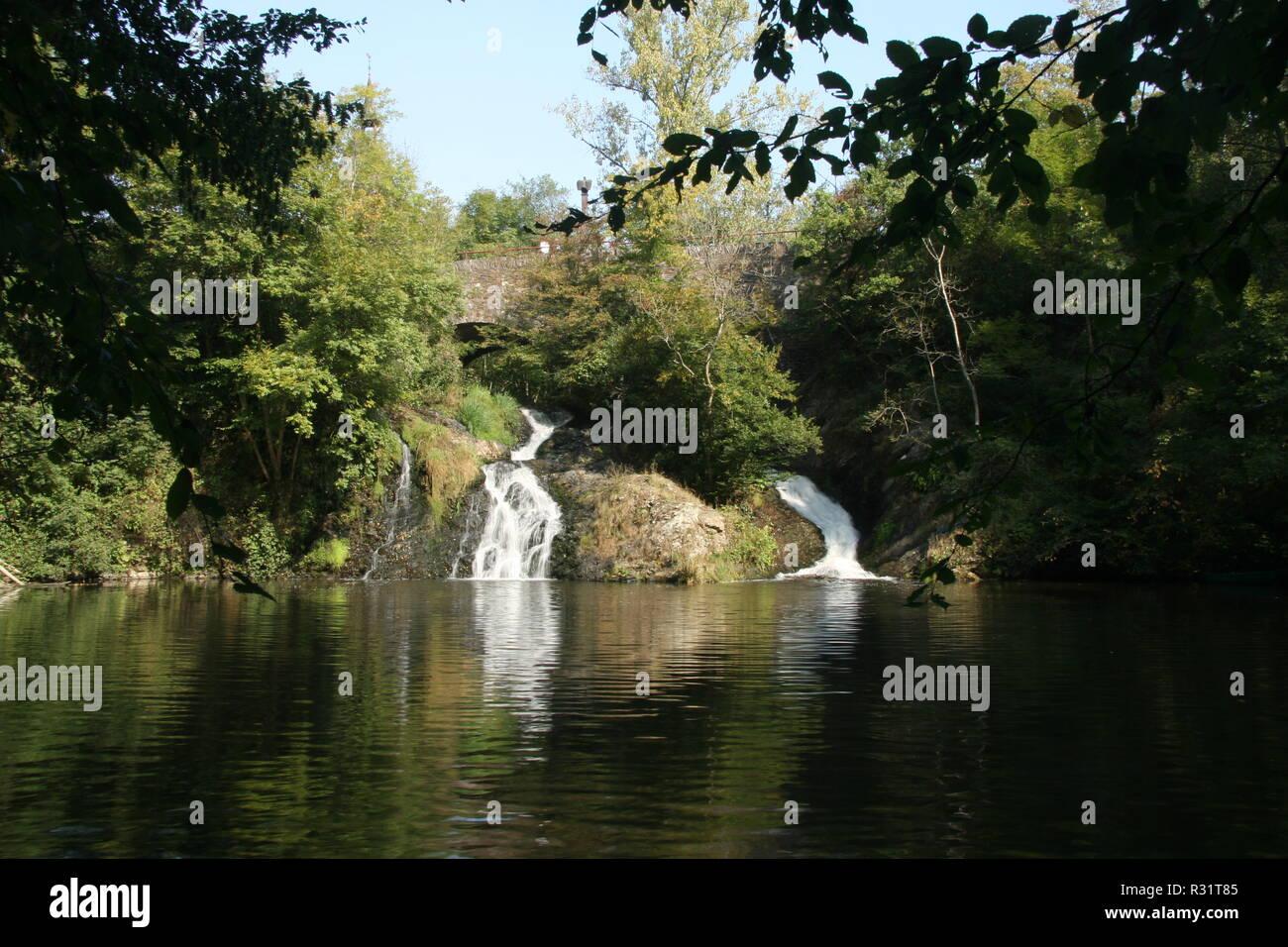Cascata elzbach Foto Stock