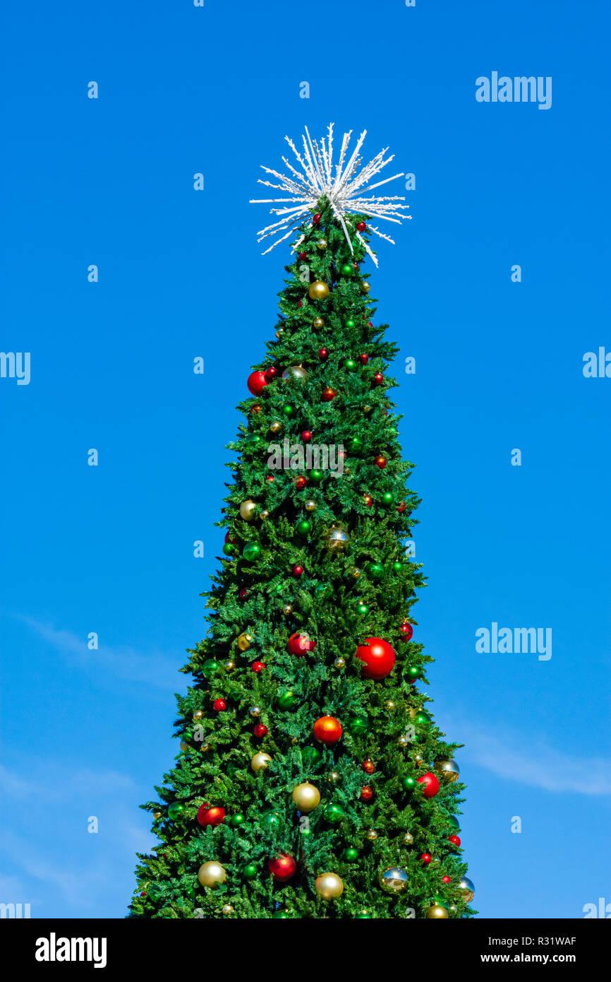 Albero Di Natale Grande.Grande E Alto Per Esterno Albero Di Natale In Festival Park Castle