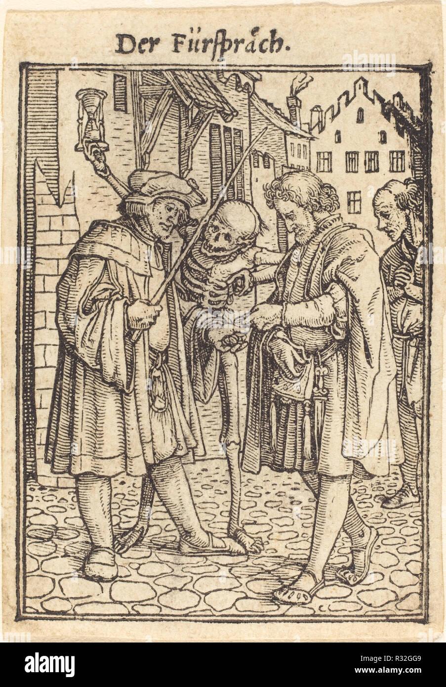 Avvocato. Medium: xilografia. Museo: National Gallery of Art di Washington DC. Autore: Hans Holbein il Giovane. Immagini Stock