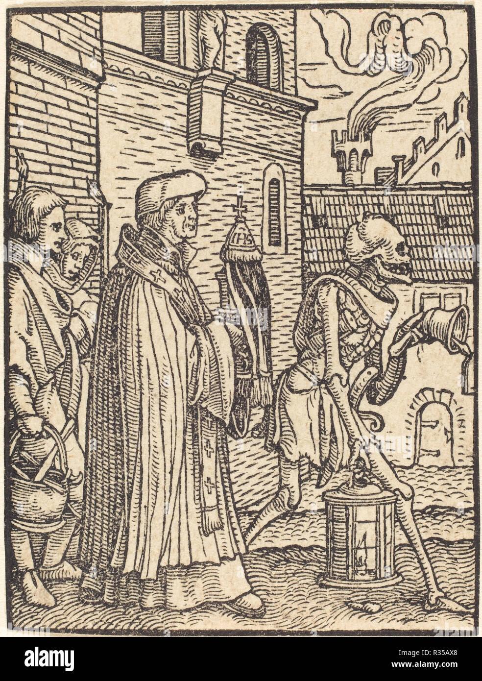 Il parroco. Medium: xilografia. Museo: National Gallery of Art di Washington DC. Autore: Hans Holbein il Giovane. Immagini Stock