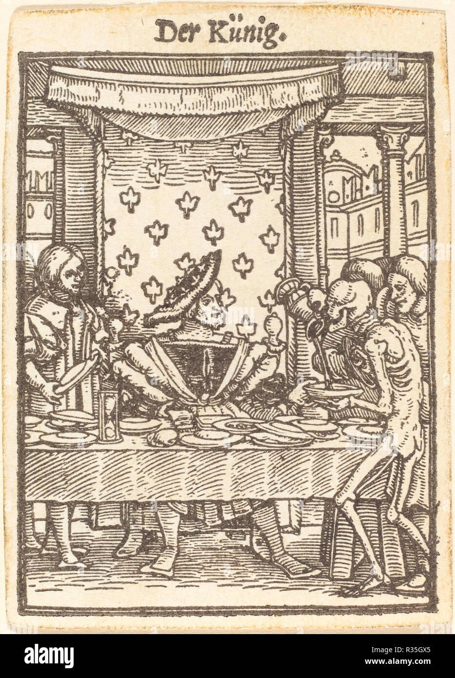Re. Medium: xilografia. Museo: National Gallery of Art di Washington DC. Autore: Hans Holbein il Giovane. Immagini Stock