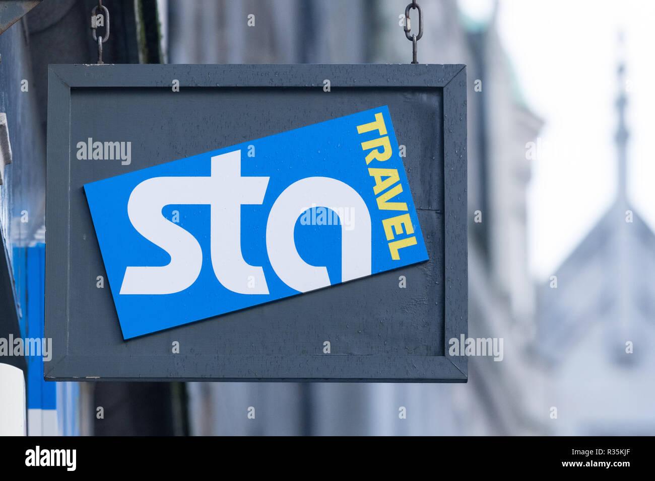 STA Travel, Aberdeen Scotland, Regno Unito Immagini Stock
