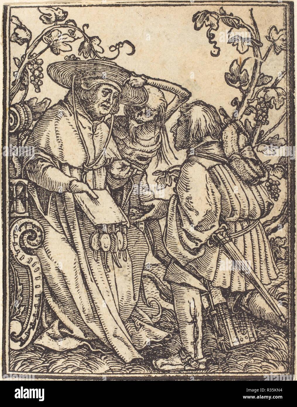 Il Cardinale. Medium: xilografia. Museo: National Gallery of Art di Washington DC. Autore: Hans Holbein il Giovane. Immagini Stock