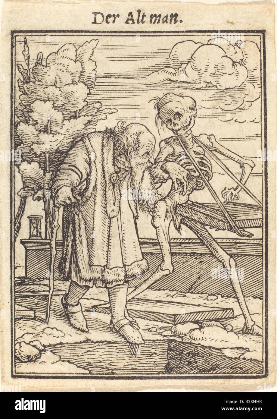 Vecchio. Medium: xilografia. Museo: National Gallery of Art di Washington DC. Autore: Hans Holbein il Giovane. Immagini Stock