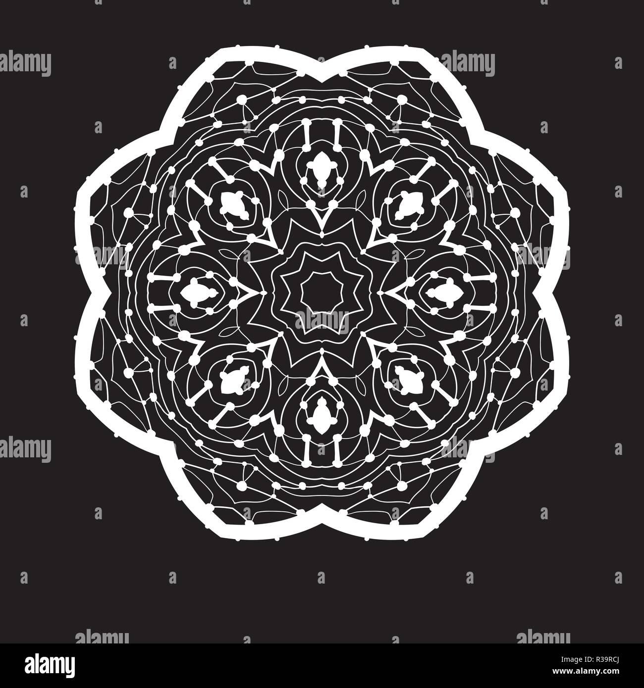 Mandala Simmetrica Doodle Disegno A Mano Zentangle Stile