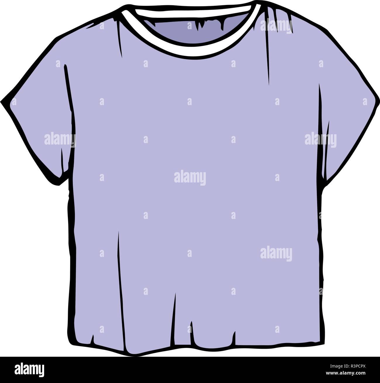 Bambini Pastello Contorno Del Disegno Vestiti T Shirt Viola