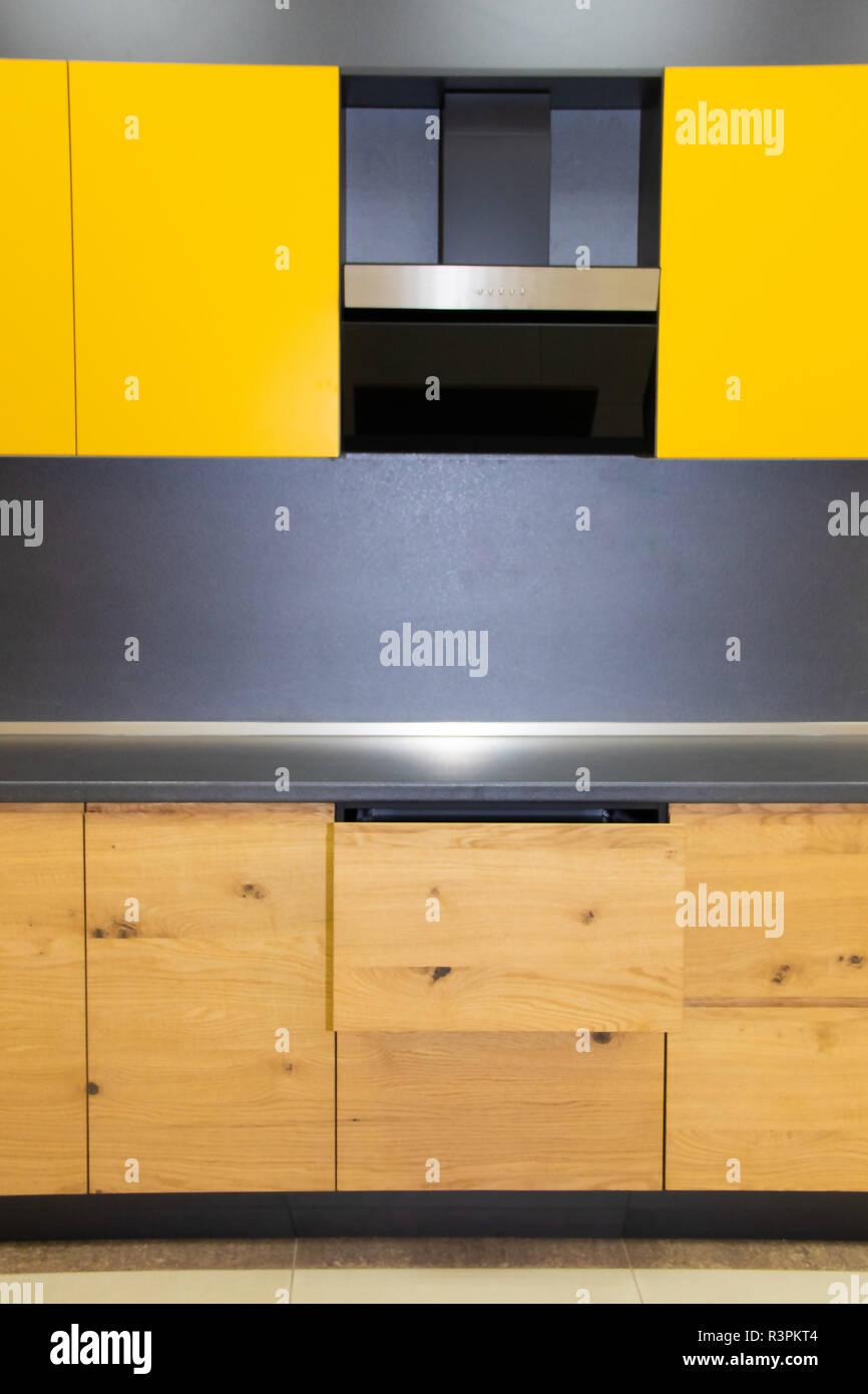 Mobili Cucina Giallo.Giallo In Legno Cucina Cucina Interier Scatole Di Legno E
