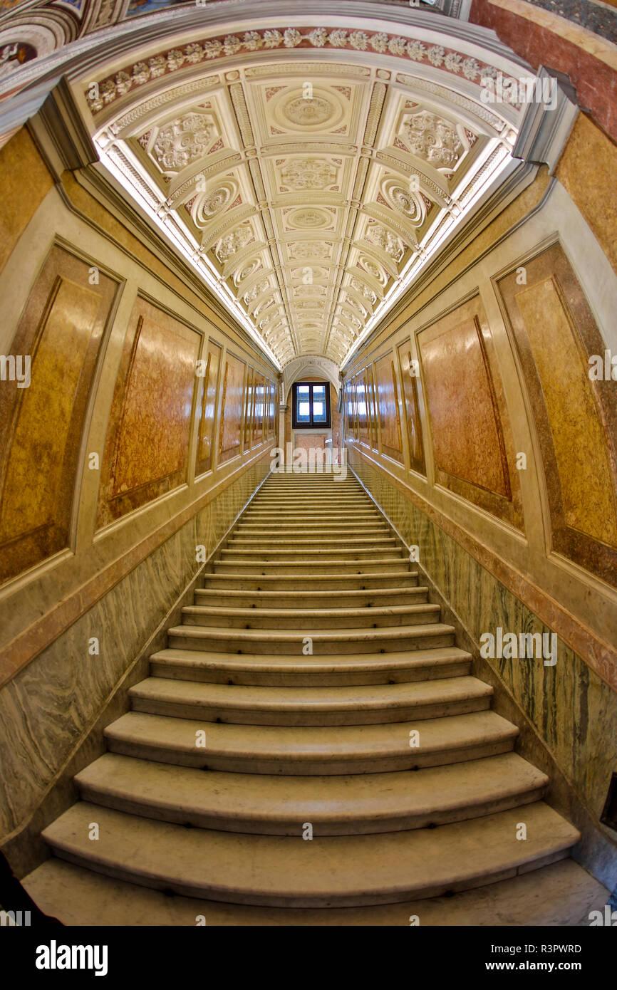 Italia, Roma, lo Scalone, Villa Farnesina alla Lungaretta Immagini Stock