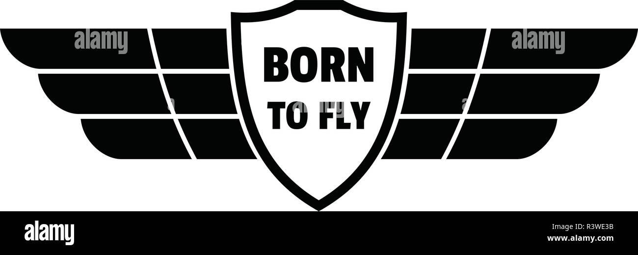 Nato a battere le ali del logo. Illustrazione semplice della Nato a battere  le ali 5021ee5aebbc