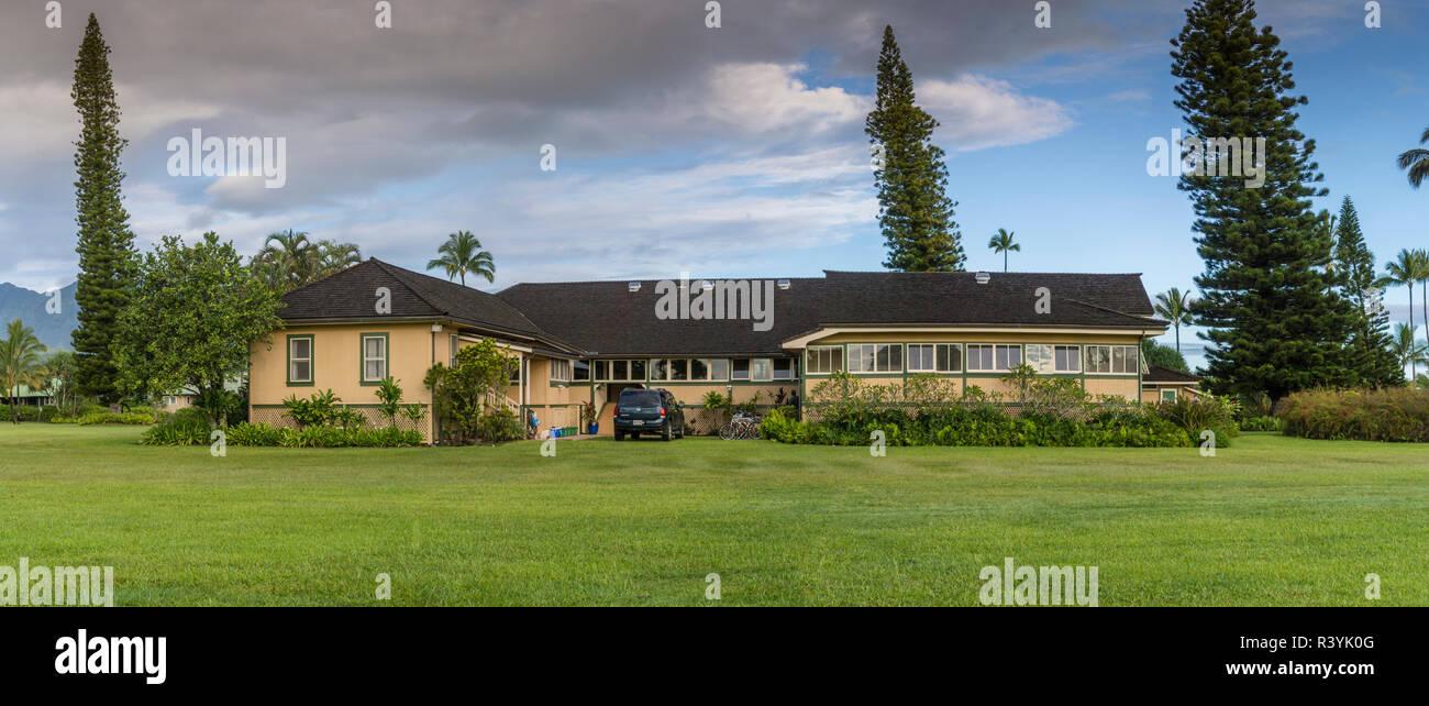 Hanalei, Hawaii, Kauai, Kauikeolani station wagon, piantagione Immagini Stock