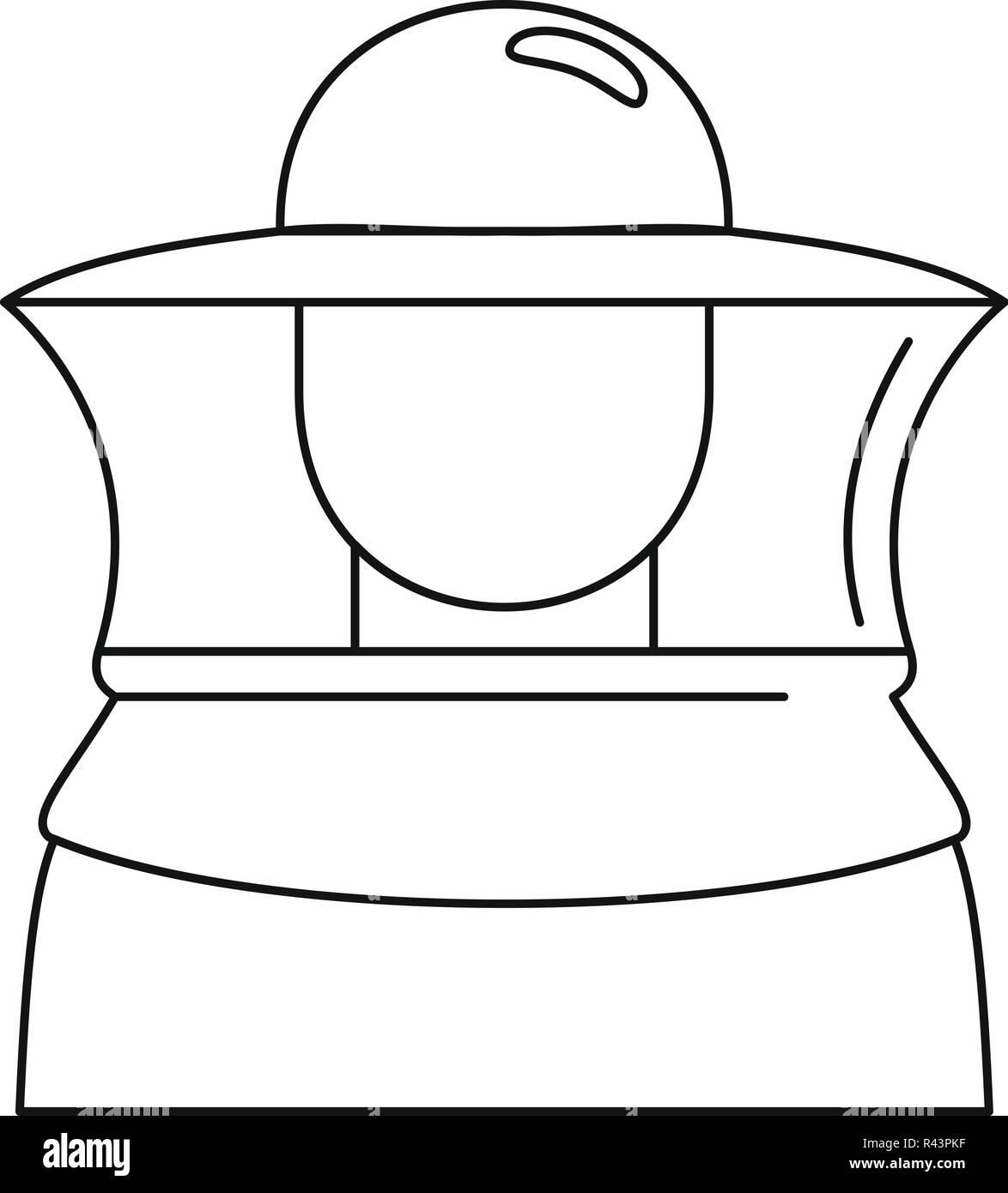 Icona di apicoltore. Illustrazione di contorno di apicoltore icona  vettoriali per il web design isolato 1685b97d090f