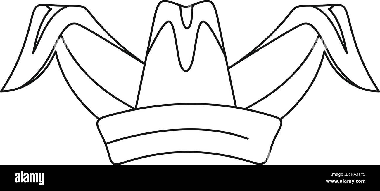 Illustrazione di contorno di jester hat icona vettoriali per il web design 877054cedd5d