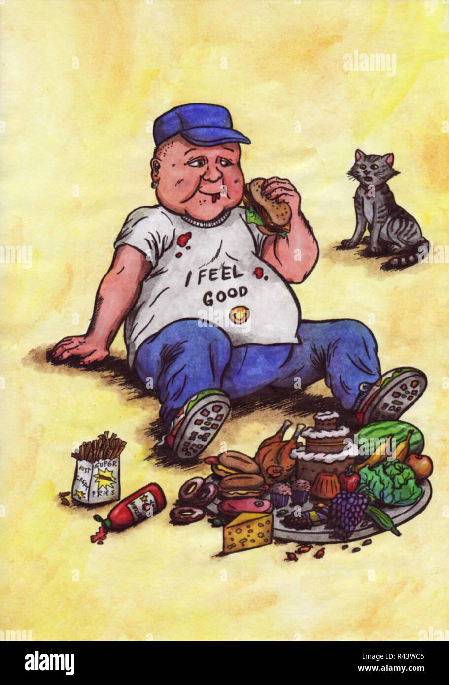 Gatto obeso dei cartoni animati immagini & gatto obeso dei cartoni