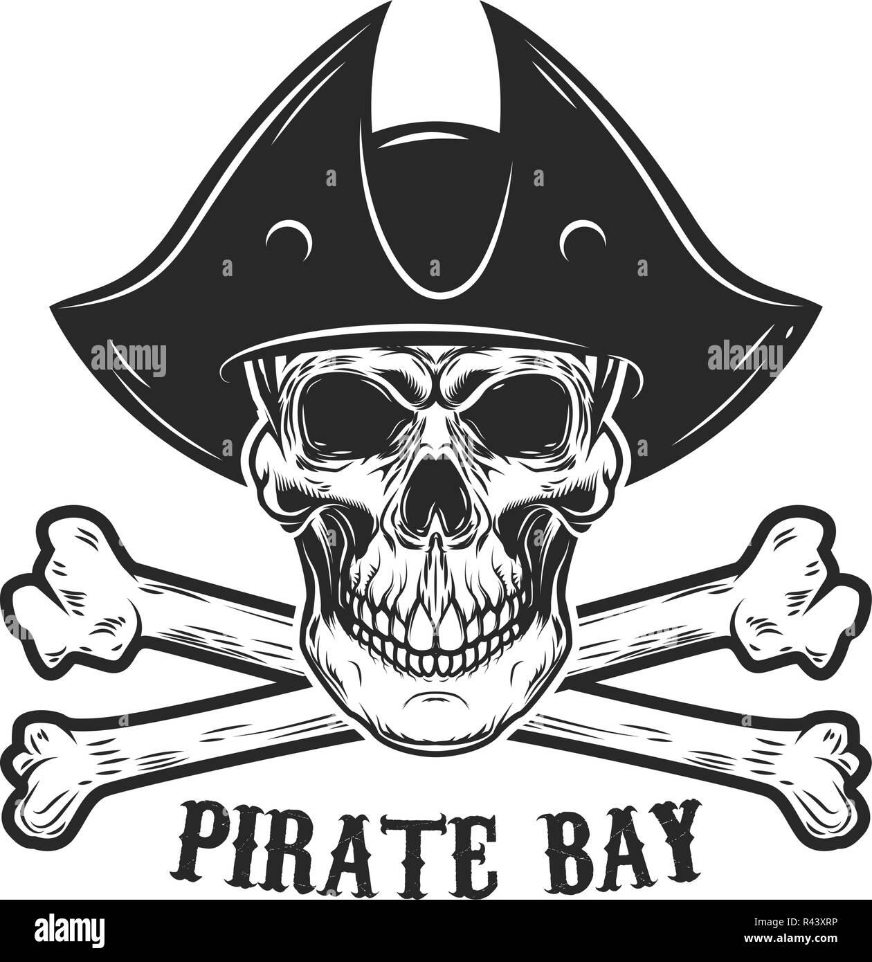 Immagini Di Teschio Pirati il teschio pirata con crossbones. gli elementi di design per