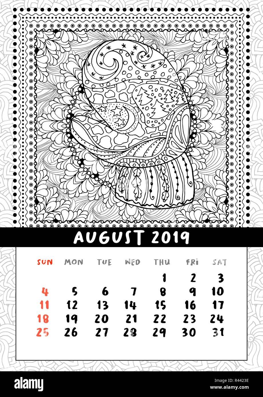 Calendario 2020 Da Colorare Per Bambini.Calendario Tascabile 2019 Immagini Calendario Tascabile
