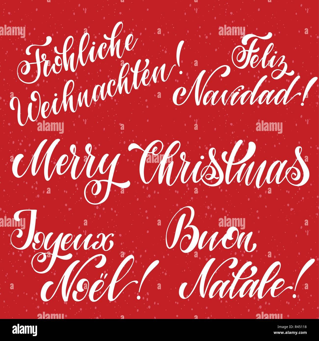 Buon Natale In Inglese.Buon Natale Di Scritte In Inglese Francese Tedesco Spagnolo E