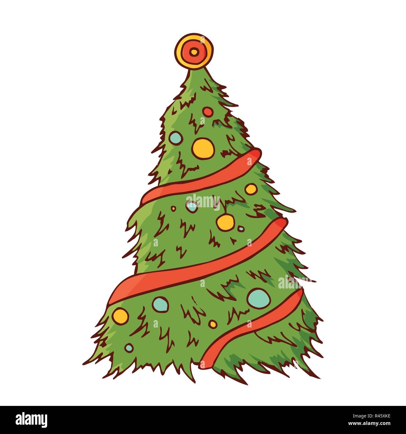 Biglietti Di Natale On Line.Albero Di Natale Con I Giocattoli Festa Tradizionale