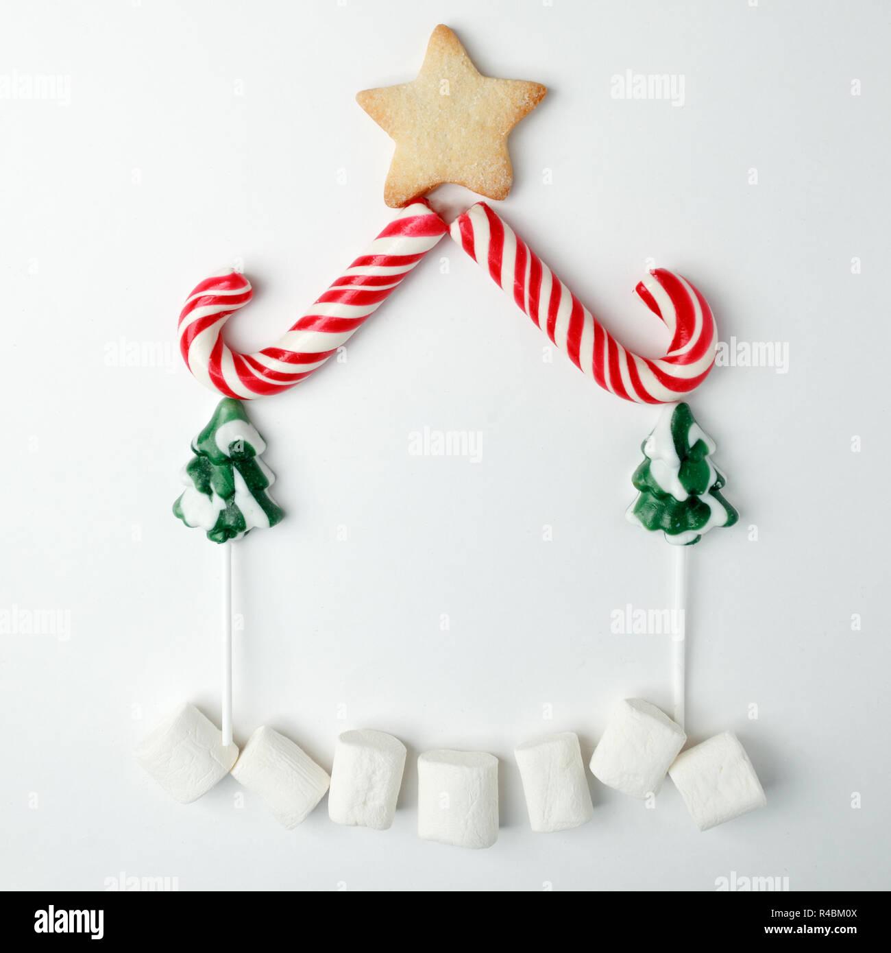 Oggetti Di Natale.Oggetti Di Natale Stabiliti Nella Forma Di Una Casa Natale