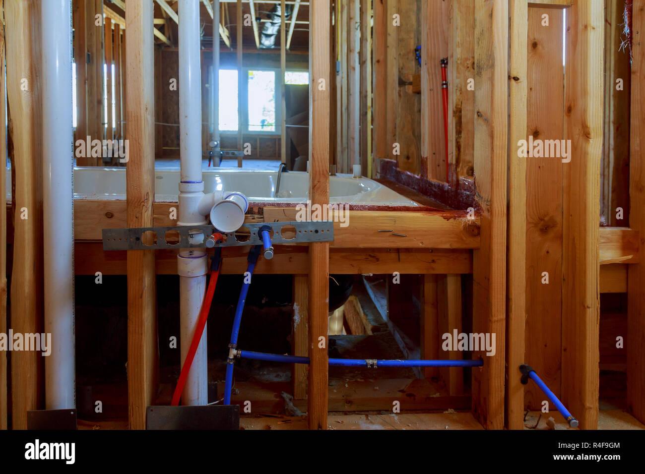 Bagno unfinishing casa nuova installazione di impianti